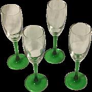 Vintage French Champagne Glasses