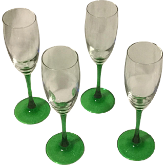 Vintage French Champagne Glasses