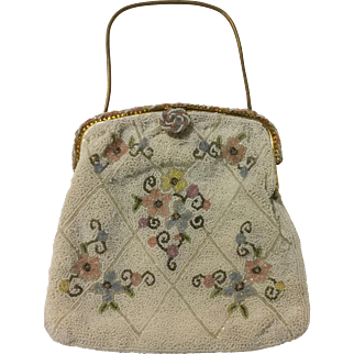 Vintage Hand Made Beaded French Purse