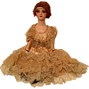 """Vintage 27"""" Tall Red Headed Composition Doll"""