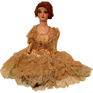 "Vintage 27"" Tall Red Headed Composition Doll"
