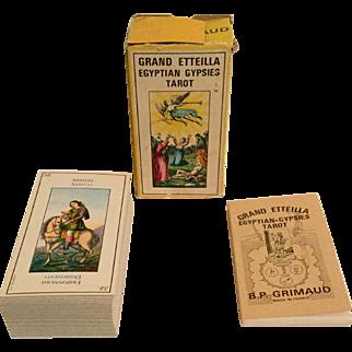 Vintage Grand Etteilla Egyptian Gypsies Tarot Cards