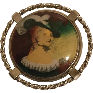 18th Century Miniature Portrait Reproduction Charles Bestland-Sterling Frame