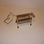 1960's Metal Dog Bills Organizer