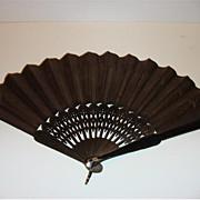 Vintage Ladies Mourning Fan