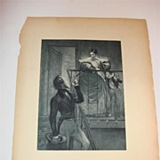 Signed & Dated 1889 Etching By French Artist Paul-Albert Besnard
