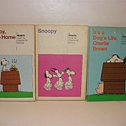 Vintage Hard cover Snoopy, Come Home 1962 - It's A Dog's Life, Charlie Brown 1962- And Snoopy 1958