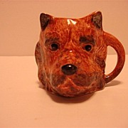 Hand Painted Dog Toby Jug England