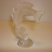 Lalique Frosted Crystal Clear Leaping Fish