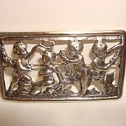 Adorable Vintage Sterling Cherubs Frame Brooch