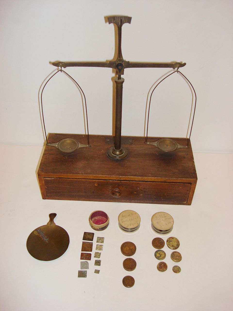 vintage henry troemner balance scale with the weights sold ruby lane