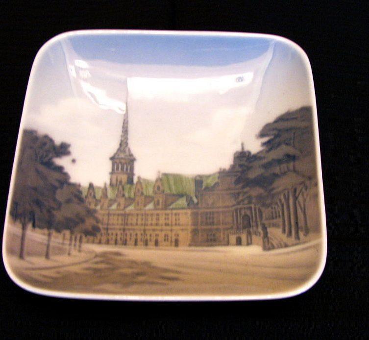 Royal Copenhagen Square Dish, Borsen #3206, Vintage Danish Porcelain