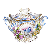 Coalbrookdale Miniature Sugar, Signed,  Antique Early 19th C English Coalport