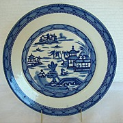 "Ashworth/Mason's Ironstone Blue & White Plate,  ""Real Old Canton"""