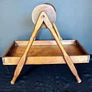 Yarn Winder or Lazy Kate, Walnut, Antique Primitive