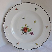 Nymphenburg Plate, Alte Blumen Pattern,  Antique 19th C German Porcelain
