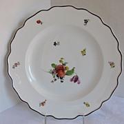 Nymphenburg Plate, Alte Blumen Pattern,  Antique 19th C German Porcelain