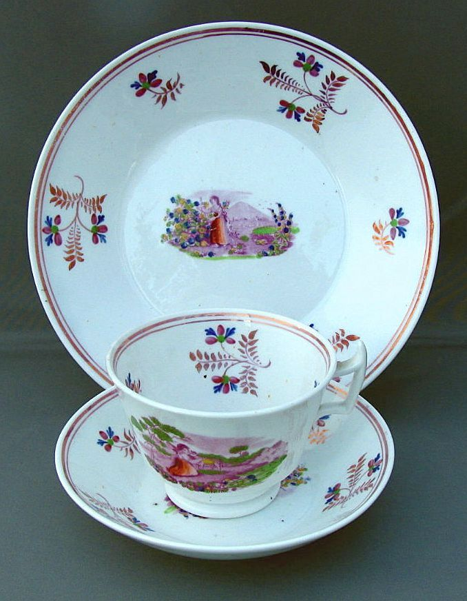 Pink Lustre Tea Cup Saucer Amp Plate English Soft Paste