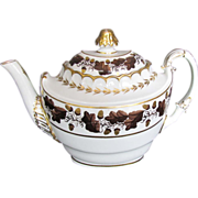 Barr, Flight & Barr Worcester Porcelain Teapot,  Antique Early 19th C English
