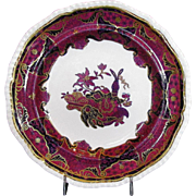 Spode Plate, Spode's Imperial,  Frog Pattern, Antique Early 19th C English