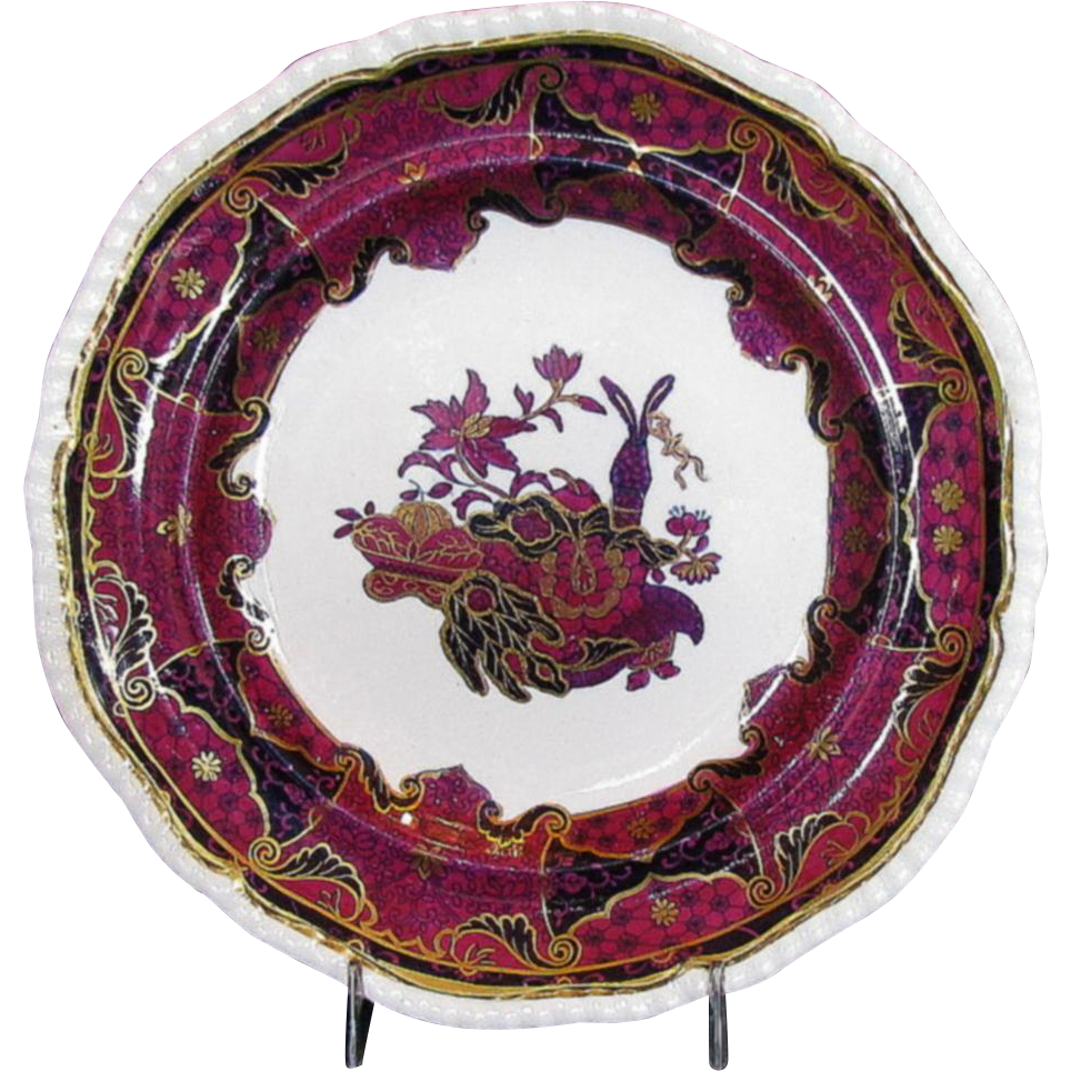 Spode Frog Pattern Plate, Antique Early 19th C English