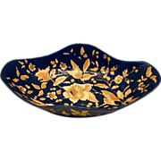 Majolica  Bowl, Cobalt Blue, Rudolf Ditmar, Antique 19th C Austrian