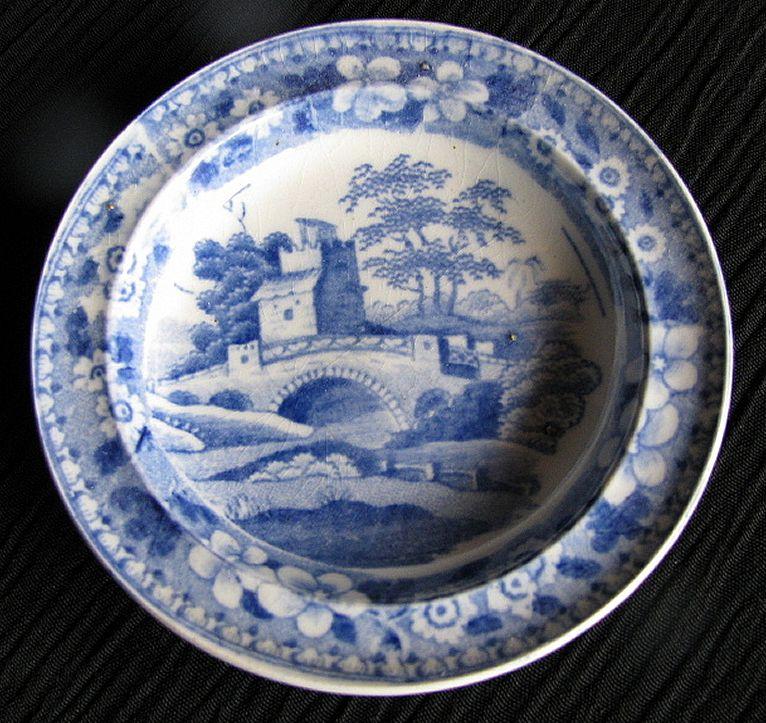 Rare Spode Toy Plate  Blue Tower  Antique Early 19th C English  Owenu0027s Antiques | Ruby Lane & Rare Spode Toy Plate
