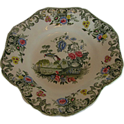 Spode Dessert Dish,  Vase & Flowers, New Fayence, Antique 19th C