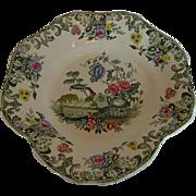 Spode Dessert Dish,  Vase & Flowers, New Fayence, Antique 19th C