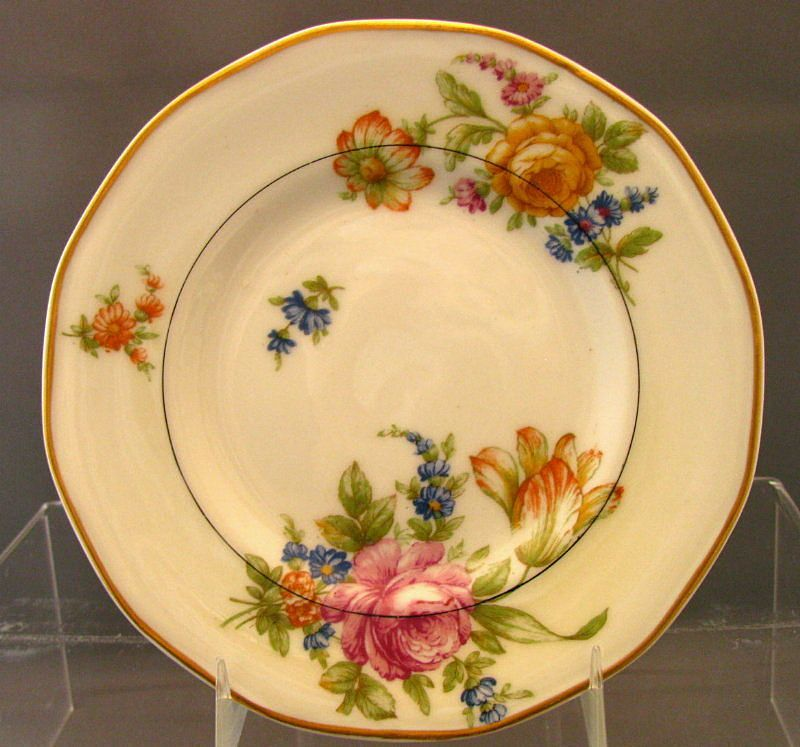 "Theodore Haviland Plate,  Bread & Butter , ""Nosegay"" Pattern, Vintage French"