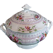 John Ridgway Sugar Bowl, Bone China,  Antique English, c 1830