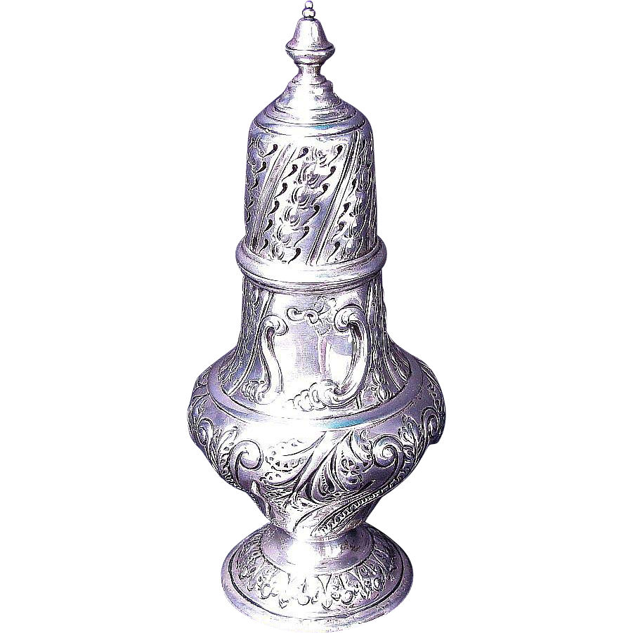 Sterling Silver Caster, Antique English, London, C.C. Pilling, 1902