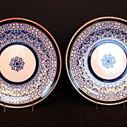 "Royal Worcester Dinner Plates, (2) ""Royal Lily"", Antique 19th C"