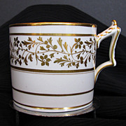 Worcester Coffee Can, Flight, Barr & Barr, Gilded,  Antique c 1820
