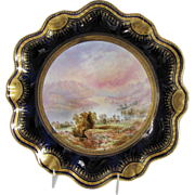 Antique Aynsley Hand Painted Named Scene Plate, Birbeck