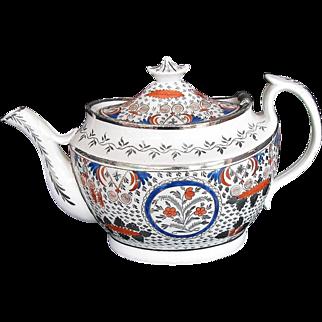 Rare Teapot, Bridged Spout, Thomas Wolfe, Factory Z, Antique  English Porcelain c1810