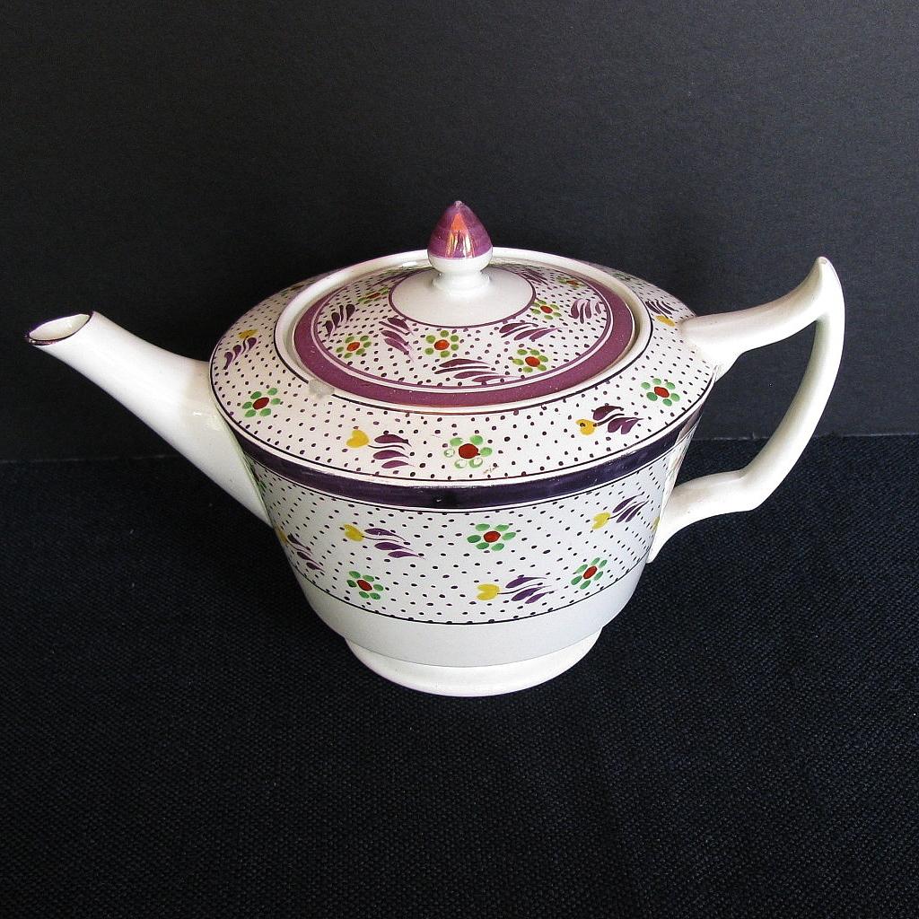 wedgwood bachelor teapot vintage pink lustre handpainted from owensantiques on ruby lane. Black Bedroom Furniture Sets. Home Design Ideas