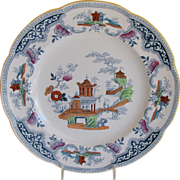 Cauldon Plate, English Chinoiserie, Antique c 1902