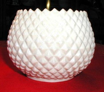 Irish Belleek Flower Pot or Vase, Diamond Quilted, 3rd  Black Mark