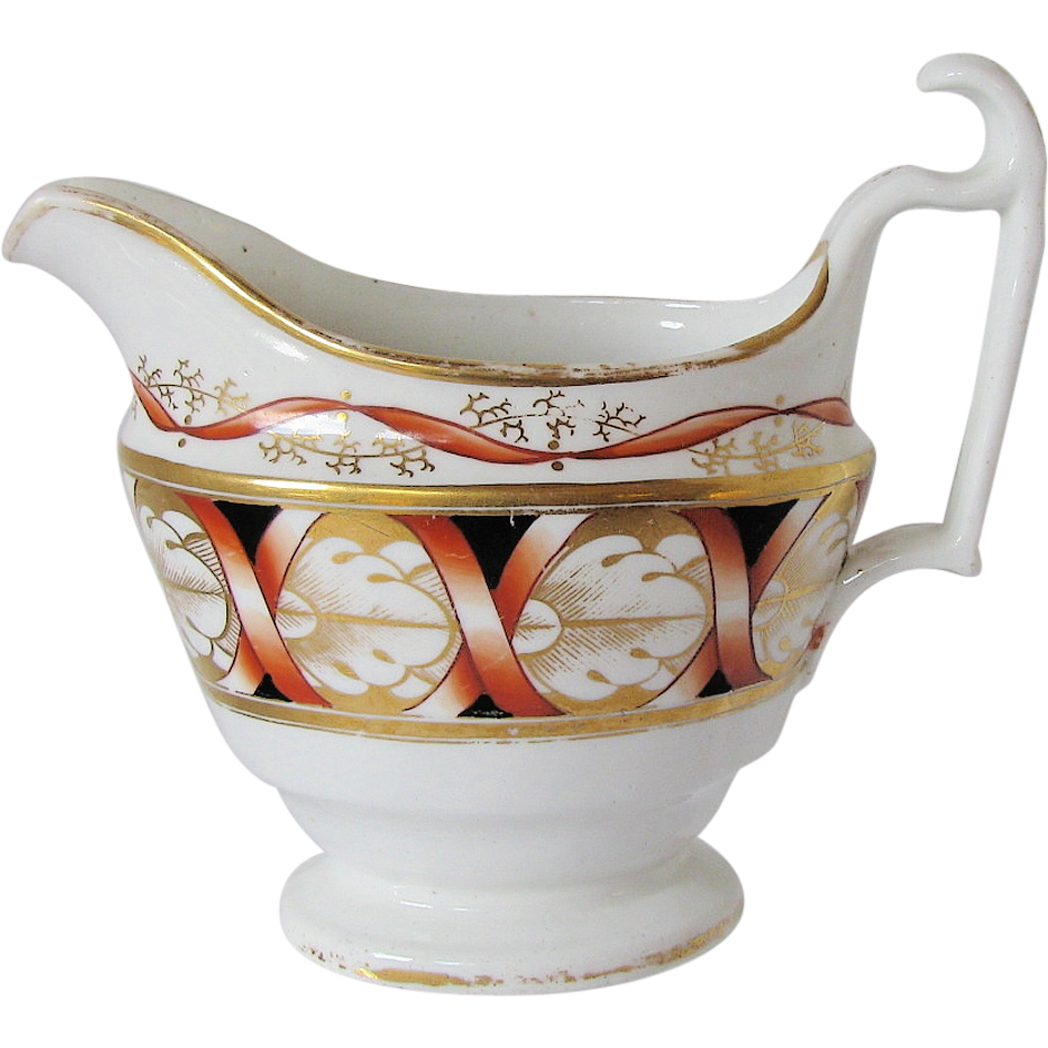 John Rose Coalport Creamer (Milk Jug), Antique English Porcelain c 1810