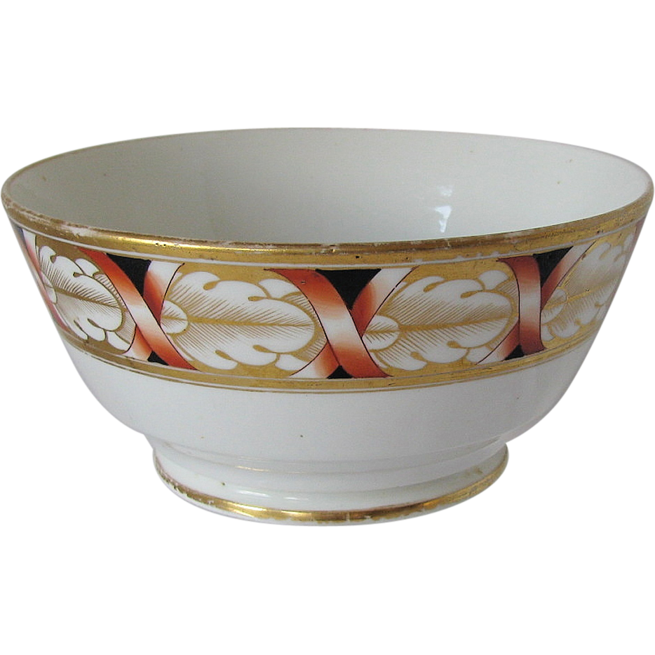 John Rose Coalport Waste Bowl, Antique Early 19th C English Porcelain