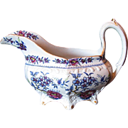 Rare J & W Ridgway Creamer, Stone China, Antique Early 19th C English Chinoiserie