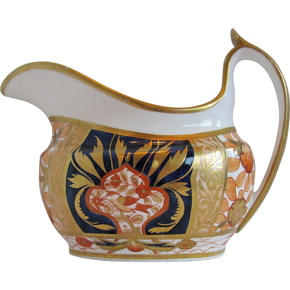Early Spode Creamer, Imari Pattern 1409, Antique Porcelain c1810