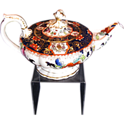 Rare C.J. Mason Bone China Teapot, English Imari,  Antique c 1835