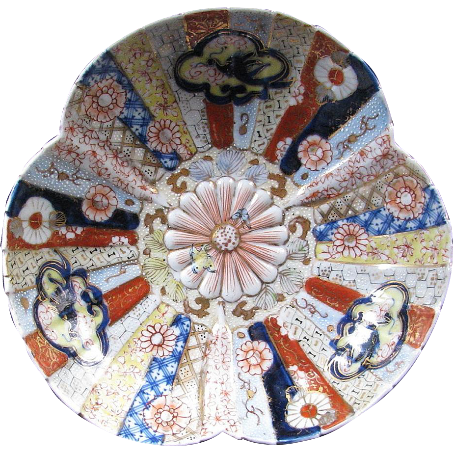 Imari Bowl, Nishikide Brocade, Signed, Antique 19th C Japanese, Meiji