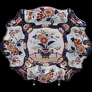 Large Ashworth/Mason's Ironstone Cake Plate, Antique 19th C