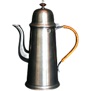 Tall, Elegant Pewter Coffee Pot, 18th Century style, by John Somers, Brazil