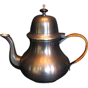 Elegant Pewter Teapot, 18th Century style, by John Somers, Brazil