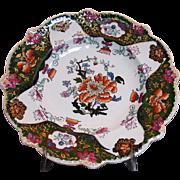 Early Mason's Patent Ironstone China 'Tree Peony' Shaped Plate c1815