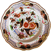 Grainger, Lee & Co., Worcester Porcelain Plate, English Imari Cornucopia Pattern,  Antique Early 19th C